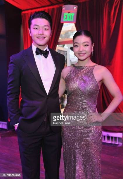 Alex Shibutani and Maia Shibutani attend the official viewing and after party of The Golden Globe Awards hosted by The Hollywood Foreign Press...