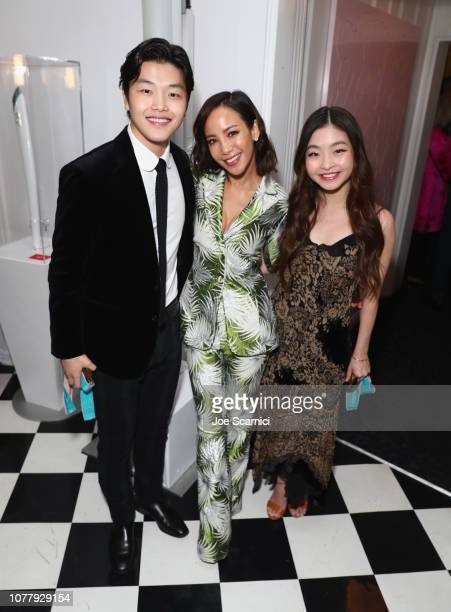 Alex Shibutani Fiona Xie and Maia Shibutani attend The 6th Annual 'Gold Meets Golden' Brunch hosted by Nicole Kidman and Nadia Comaneci and presented...