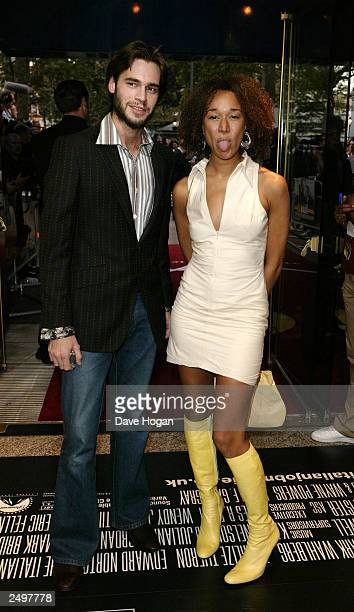 """Alex Silby and Mel from Big Brother attend the UK charity premiere of """"The Italian Job"""" at the Empire Leicester Square September 15, 2003 in London,..."""