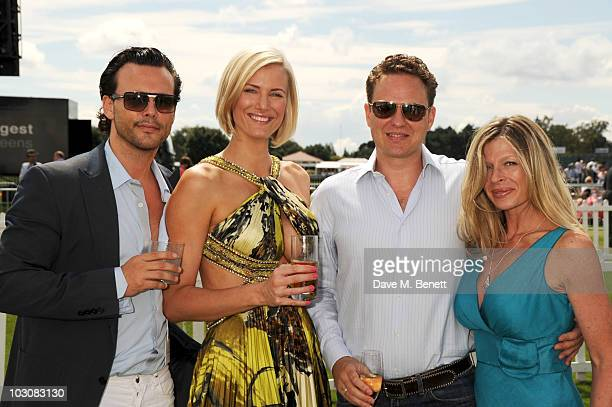 Alex Smith Alex Leigh Alex McLean and Charlotte Brosnan attend the Cartier International Polo Day at Guards Polo Club on July 25 2010 in Egham England