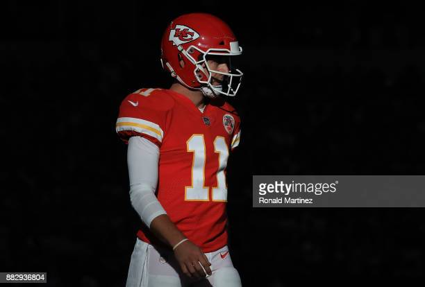 Alex Smith of the Kansas City Chiefs at ATT Stadium on November 5 2017 in Arlington Texas