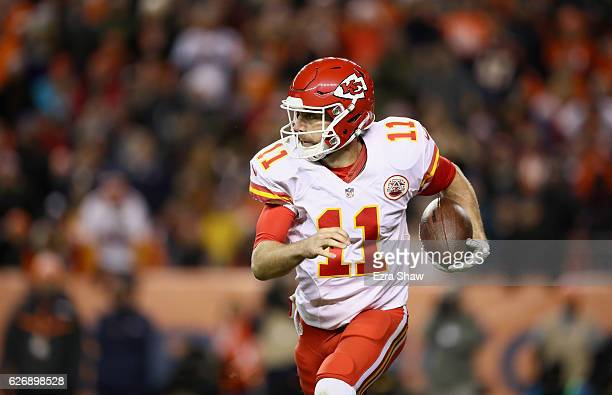 Alex Smith of the Kansas City Chiefs in action against the Denver Broncos at Sports Authority Field at Mile High on November 27 2016 in Denver...