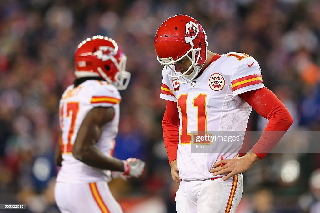Alex Smith  11 of the Kansas City Chiefs reacts in the second half against  the ef7a7a674