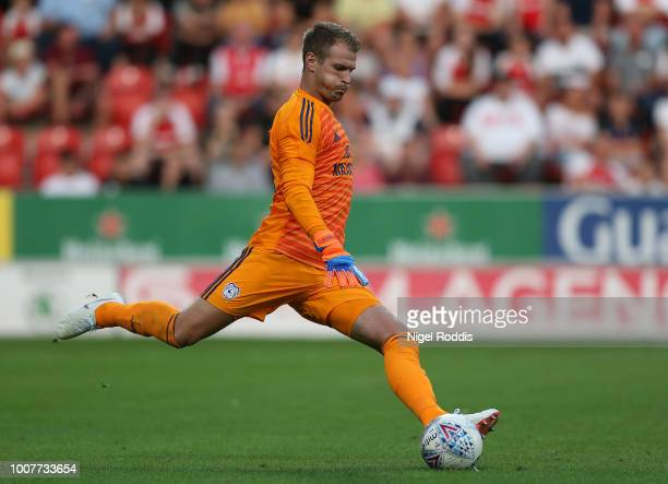 Alex Smithies of Cardiff City during the at PreSeason Friendly match between Rotherham United and Cardiff City at The New York Stadium on July 25...