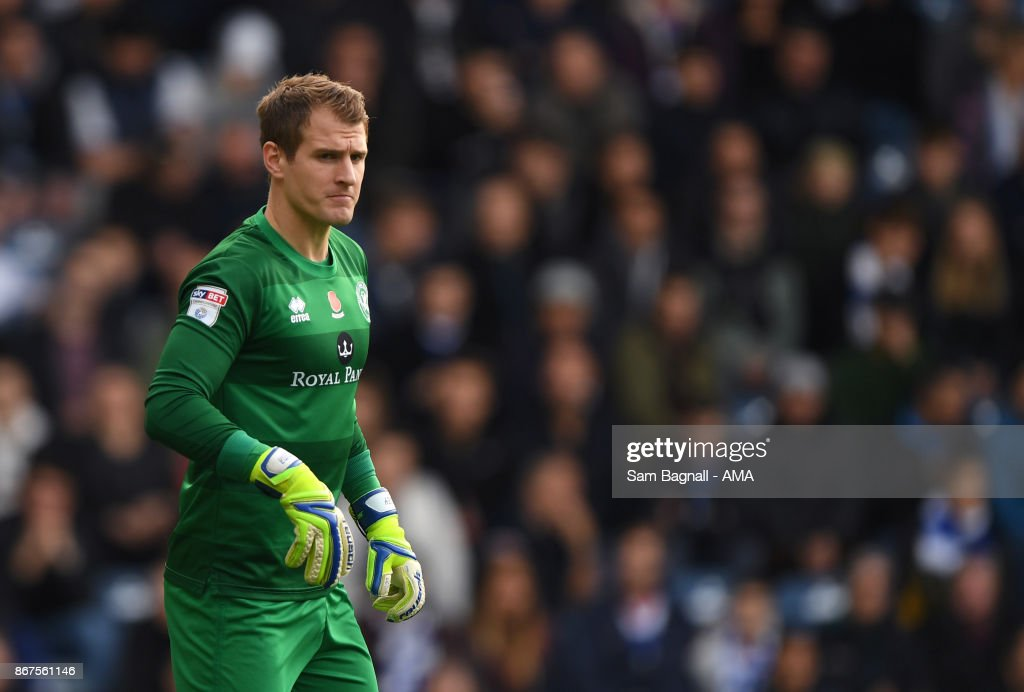 Alex Smithies of Queens Park Rangers during the Sky Bet Championship match between Queens Park Rangers and Wolverhampton at Loftus Road on October 28, 2017 in London, England.