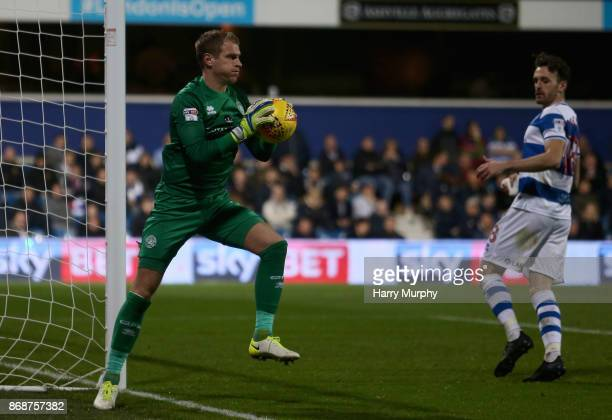 Alex Smithies of Queens Park Rangers in action during the Sky Bet Championship match between Queens Park Rangers and Sheffield United at Loftus Road...