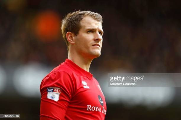 Alex Smithies of Queens Park Rangers looks on during the Sky Bet Championship match between Wolverhampton and Queens Park Rangers at Molineux on...