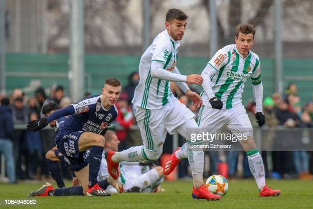 Alex Sobczyk of FAC Wien Andrija Pavlovic of Rapid and Stefan Schwab of Rapid during the Friendly Match between SK Rapid and FAC at Ernst Happel...