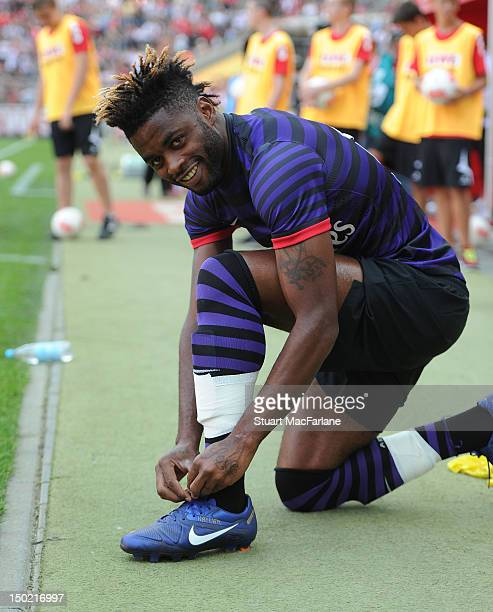 Alex Song of Arsenal before the PreSeason Friendly game at Rhein Energie Stadium on August 12 2012 in Cologne Germany