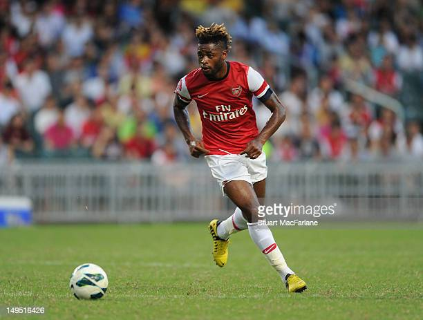 Alex Song of Arsenal FC during the pre-season Asian Tour friendly match between Kitchee FC and Arsenal at Hong Kong Stadium on July 29, 2012 in Hong...
