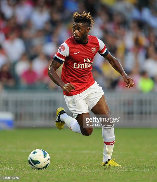 Alex Song of Arsenal FC during the preseason Asian Tour friendly match between Kitchee FC and Arsenal at Hong Kong Stadium on July 29 2012 in Hong...