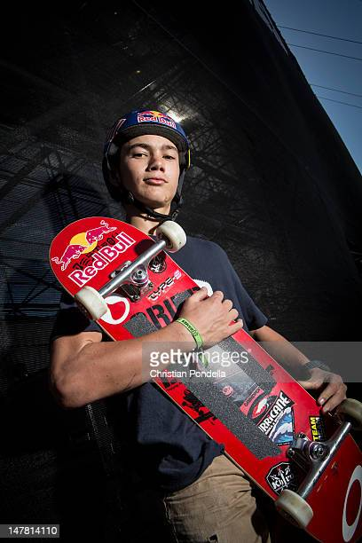 Alex Sorgente of the US poses for a portrait during practice for Skateboard Big Air at the X Games Los Angeles 2012 at LA Live Event Deck June 28...
