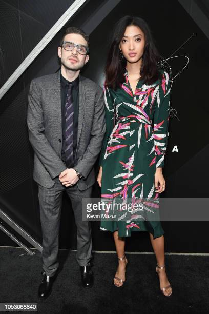 Alex Soros and Aqua Parios attend the Pencils of Promise 10th Anniversary Gala at the Duggal Greenhouse on October 24 2018 in New York City