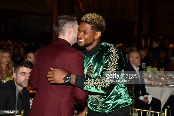 Alex Soros and Usher attend the Gordon Parks Foundation Awards Dinner Auction at Cipriani 42nd Street on June 6 2017 in New York City
