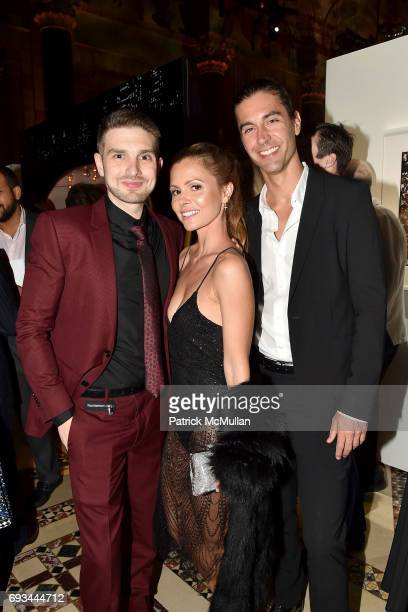 Alex Soros Elizabeth Sulcer and Tom Palmer attend the Gordon Parks Foundation Awards Dinner Auction at Cipriani 42nd Street on June 6 2017 in New...