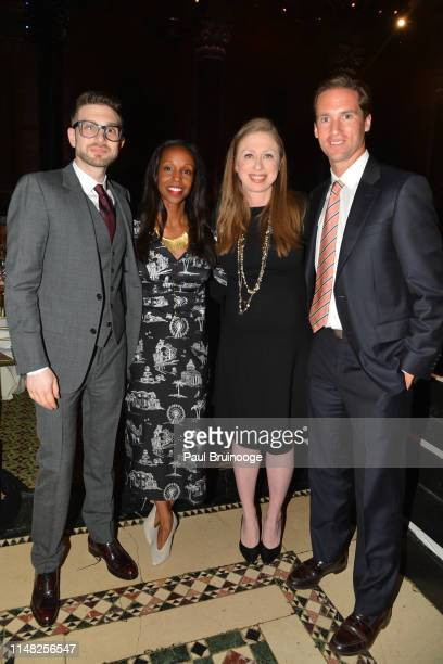 Alex Soros Sarah Lewis Chelsea Clinton and Peter Kunhardt Jr attend The Gordon Parks Foundation Awards Dinner and Auction at Cipriani 42nd Street NYC...