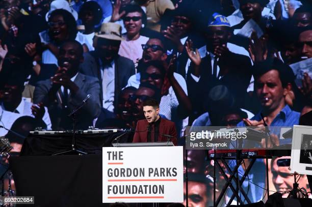 Alex Soros speaks during 2017 Gordon Parks Foundation Awards Gala at Cipriani 42nd Street on June 6 2017 in New York City
