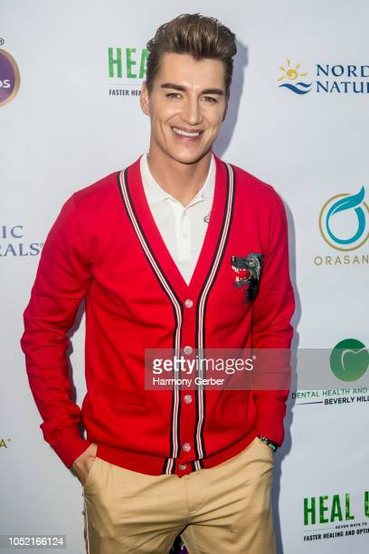 Alex Sparrow attends the Beverly Hills' Famed Periodontist Dr Sanda Moldovan Hosts Go Green Soiree at The Montage on October 14 2018 in Beverly Hills...