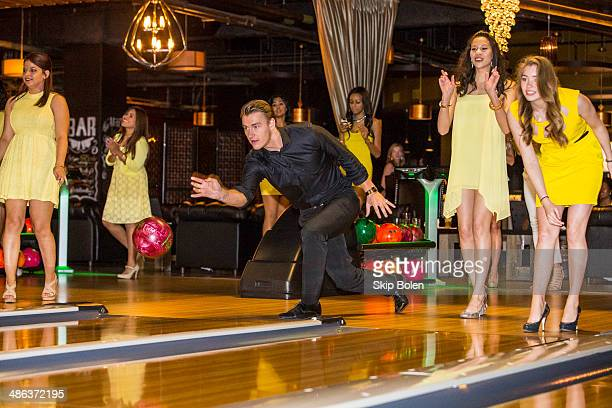 Alex Sparrow bowls at the 'Walk of Shame' New Orleans screening After Party at Fulton Alley on April 23 2014 in New Orleans Louisiana