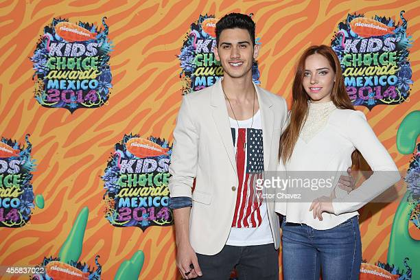 Alex Speitzer and Mini West attend the Nickelodeon Kids' Choice Awards Mexico 2014 at Pepsi Center WTC on September 20 2014 in Mexico City Mexico