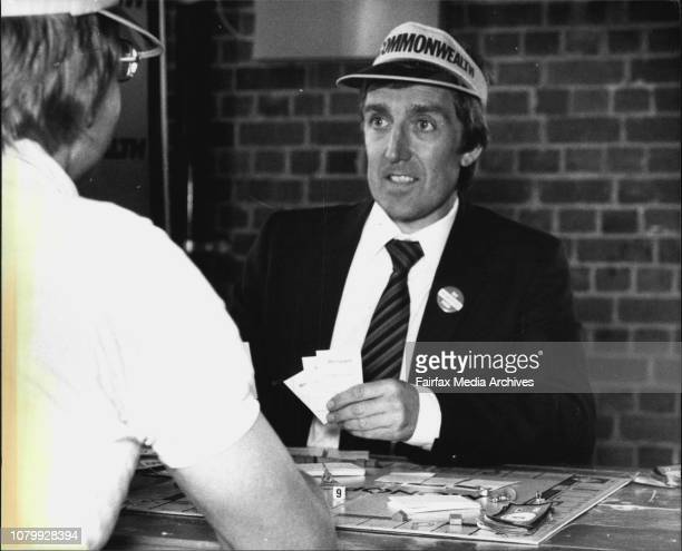 Alex Spiller Sth African champion monopoly player competing here at Pier One he is a real estate agent in Drummoyne August 7 1982