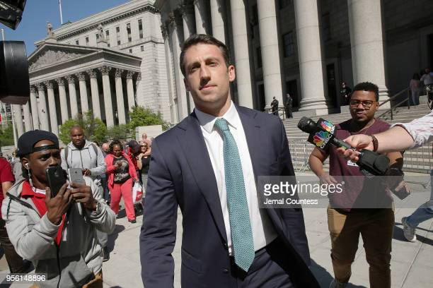 Alex Spiro legal counsel representing JayZ departs the Thurgood Marshal Federal Court on May 8 2018 in New York City JayZ real name Sean Carter was...