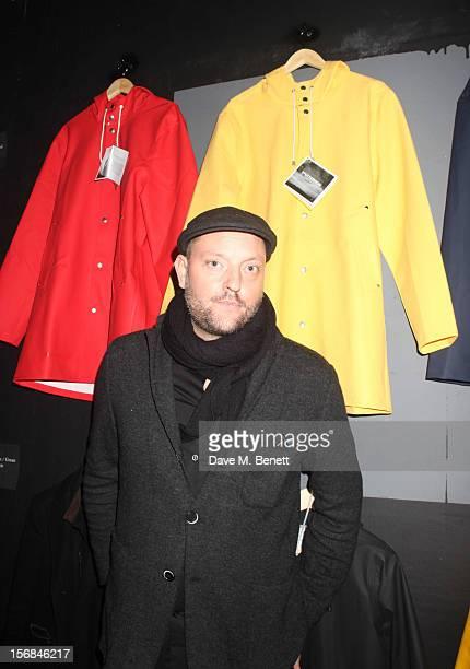 Alex Stutterheim attends Stutterheim Raincoats PopUp Shop launch party at 30a Redchurch Street on November 22 2012 in London England