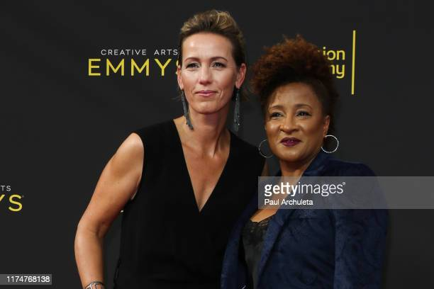 Alex Sykes and Wanda Sykes attend the 2019 Creative Arts Emmy Awards on September 14 2019 in Los Angeles California