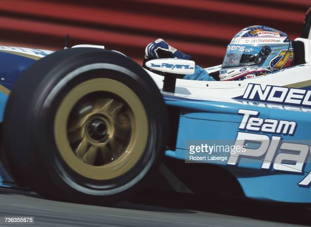 Alex Tagliani of Canada drives the Player's Forsythe Racing Reynard 01i Ford XF V8t during practice for the Championship Auto Racing Teams 2002 FedEx...