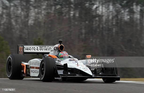 Alex Tagliani of Canada, drives the Sam Schmidt Motorsports Dallara Honda during IZOD IndyCar Series Spring Training at Barber Motorsports Park on...