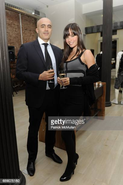 Alex Tahsili and Desiree Dymond attend TANA JEWELRY DEBUT at King of Greene St on April 8 2009 in New York City