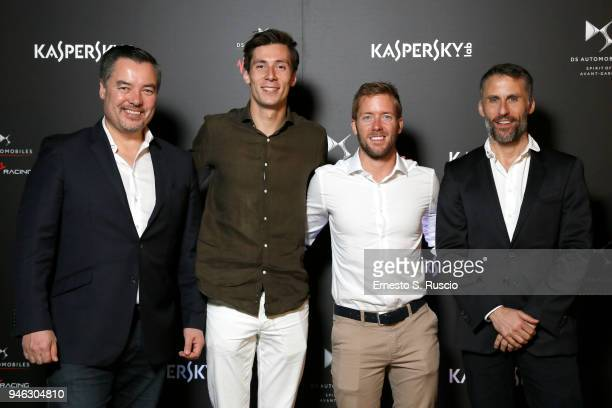 Alex Tai Alex Lynn Sam Bird and Aldo Fucelli Pessot del Bo' attend Racing Goes Green an event organized by Kaspersky Lab Official Sponsor of DS...
