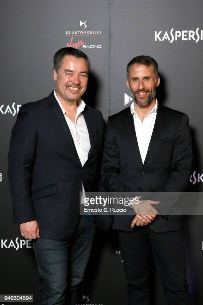 Alex Tai and Aldo Fucelli Pessot del Bo' attend Racing Goes Green an event organized by Kaspersky Lab Official Sponsor of DS Virgin Racing Team to...