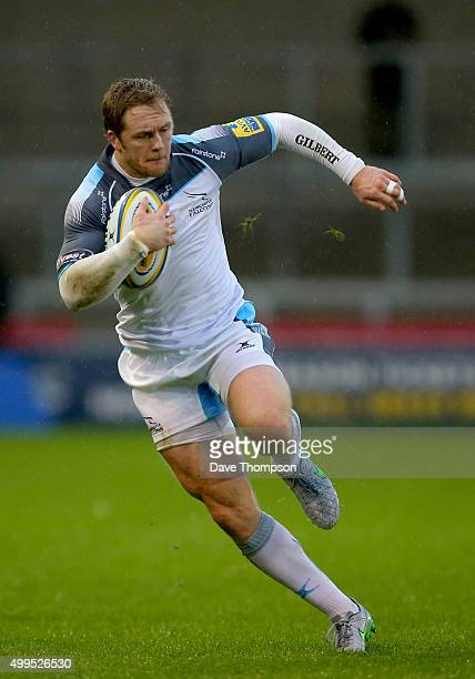 Alex Tait of Newcastle Falcons during the Aviva Premiership match between Sale Sharks and Newcastle Falcons at the AJ Bell Stadium on November 28...