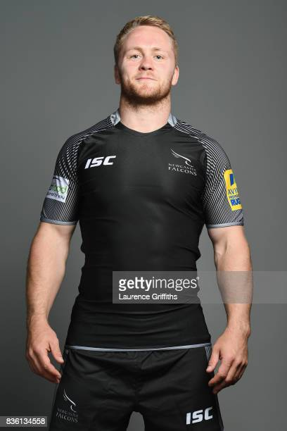 Alex Tait of the Newcastle Falcons poses for a portrait during the Newcastle Falcons photocall at Kingston Park on August 17 2017 in Newcastle upon...