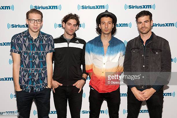 Alex Tanas Ben Spivak Nasri Atweh and Mark Pellizzer of the band Magic visit the SiriusXM Studios on April 17 2014 in New York City