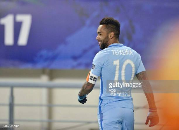 Alex Teixeira of Jiangsu Suning celebrates after a goal during the AFC Champions League 2017 Group H match between Jiangsu Suning and Adelaide United...