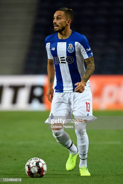 Alex Telles in action during the Liga Nos match between FC Porto and Belenenses SAD at Estadio do Dragao on July 5 2020 in Porto Portugal