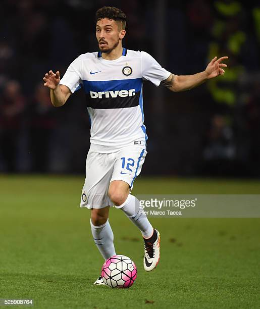 Alex Telles of FC Internazionale in action during the Serie A match between Genoa CFC and FC Internazionale Milano at Stadio Luigi Ferraris on April...