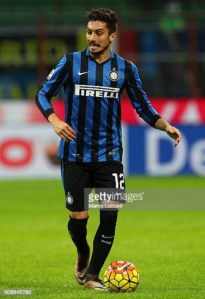 Alex Telles of FC Internazionale Milano in action during the Serie A match between FC Internazionale Milano and AC Chievo Verona at Stadio Giuseppe...