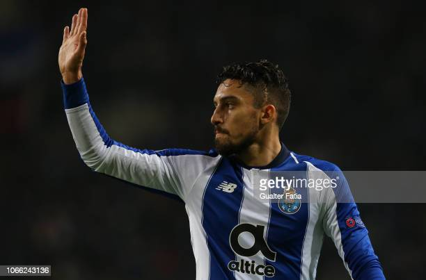 Alex Telles of FC Porto during the UEFA Champions League Group D match between FC Porto and FC Schalke 04 at Estadio do Dragao on November 28 2018 in...