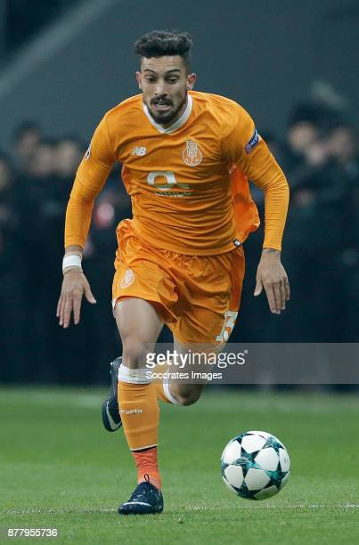 Alex Telles of FC Porto during the UEFA Champions League match between Besiktas v FC Porto at the Vodafone Park on November 21 2017 in Istanbul Turkey