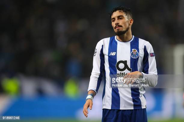 Alex Telles of FC Porto during the UEFA Champions League Round of 16 First Leg match between FC Porto and Liverpool at Estadio do Dragao on February...