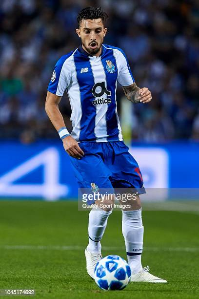 Alex Telles of FC Porto in action during the Group D match of the UEFA Champions League between FC Porto and Galatasaray at Estadio do Dragao on...