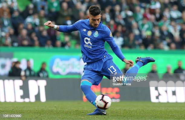 Alex Telles of FC Porto in action during the Liga NOS match between Sporting CP and FC Porto at Estadio Jose Alvalade on January 12 2019 in Lisbon...