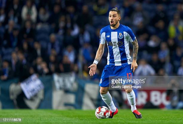 Alex Telles of FC Porto in action during the Liga Nos match between FC Porto and Rio Ave FC at Estadio do Dragao on March 07 2020 in Porto Portugal