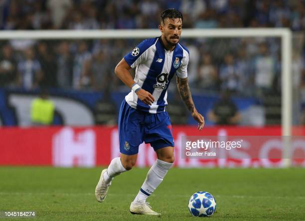 Alex Telles of FC Porto in action during the UEFA Champions League Group D match between FC Porto and Galatasaray at Estadio do Dragao on October 3...