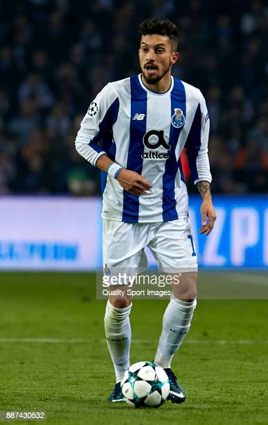 Alex Telles of FC Porto in action during the UEFA Champions League group G match between FC Porto and AS Monaco at Estadio do Dragao on December 6...