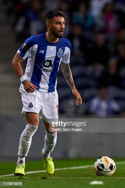 Alex Telles of FC Porto in action during the UEFA Europa League group G match between FC Porto and BSC Young Boys at Estadio do Dragao on September...