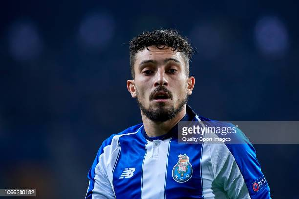 Alex Telles of FC Porto looks on during the Group D match of the UEFA Champions League between FC Porto and FC Schalke 04 at Estadio do Dragao on...